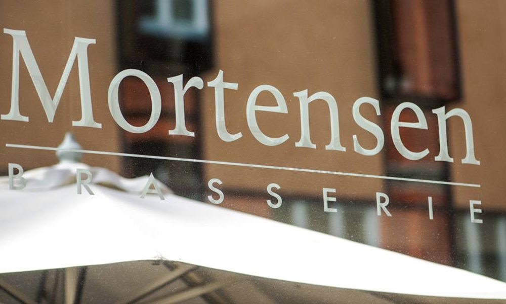 brasserie mortensen logo outside