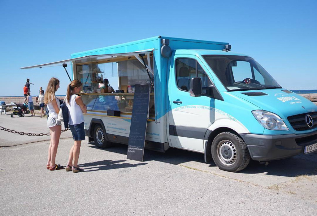 simple food truck outside