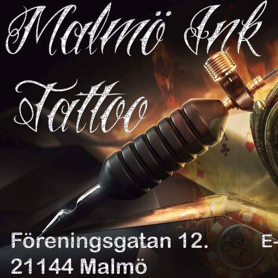 malmo ink tatto logo and picture
